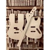 Fender Jazz Bass, полный комплект для фрезеровки гитары, фанера 8мм.