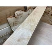 Клён Волнистый заготовка для грифа электрогитары Волна-А Смешанный 27х117х790мм
