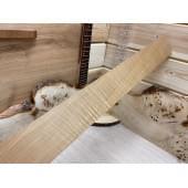 Клён Волнистый Жареный заготовка накладки для бас-гитары Волна-АА 7х80х675мм