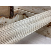 Зебрано заготовка накладки для бас-гитары Радиал АА 9х98х700мм