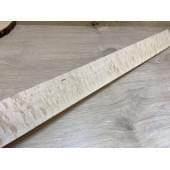 Клён Облачко заготовка накладки для бас-гитары 7,5х72х755 мм