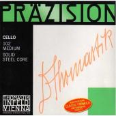 102 Precision Комплект струн для виолончели размером 4/4, среднее натяжение, Thomastik