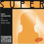 42 Super Flexible Комплект струн для контрабаса размером 4/4, оркестровые, Thomastik