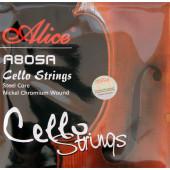 A805A Комплект струн для виолончели, никель Alice