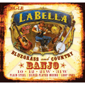 720L-LE Комплект струн для банджо тенор, петля, 10-31, посеребренные, Light, La Bella