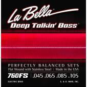 760FS Комплект струн для 4-струнной бас-гитары 45-105 La Bella