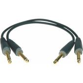 AU-JJ0030 Коммутационный кабель, 30см, Jack 6,35мм, 2шт, Klotz