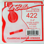 422 Отдельная струна №4 из нейлоновой нити в посеребренной оплетке, La Bella