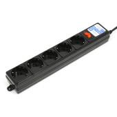 SPG-B-0,5M-BLACK PowerCube Фильтр-удлинитель 0.5м 10А/2,2кВт, Электрическая мануфактура