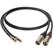 ALPM030 Кабель акустический XLRm-RCA, 3м, 2шт, Klotz