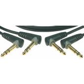 AB-JJA0060 Коммутационный кабель 6.3мм, 60см, 2шт, угловой, Klotz
