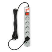 SPG(5+1)-B-15 PowerCube Фильтр-удлинитель 5м 10А/2,2кВт, Электрическая мануфактура