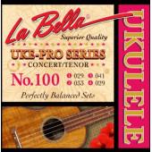 100 Uke-Pro Комплект струн для концертного/тенор укулеле, La Bella