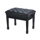 HY-PJ006-GLOSS-BLACK Банкетка, черная, искусственная кожа, Rin