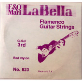 823 Отдельная струна №3, красный нейлон, La Bella