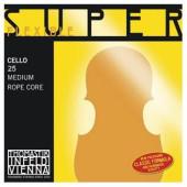 25 Super Flexible Отдельная струна А/Ля для виолончели размером 4/4, Thomastik