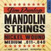 DMN1140 Комплект струн для мандолины, никелированные, Medium, 11-40, Dunlop