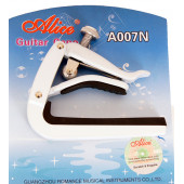 A007N-A/WH Каподастр для акустической гитары, белый, Alice
