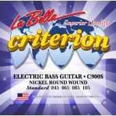 C900S Criterion Комплект струн для 4-струнной бас-гитары 45-105 La Bella