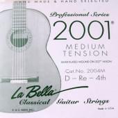 2004M Отдельная 4-я струна для гитары посеребреная La Bella