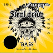BSD-L Steel Drive Комплект струн для бас-гитары, сталь, 40-100, Мозеръ