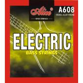 A608(4)-L Light Комплект струн для бас-гитары, сталь/сплав никеля, 040-095, Alice