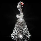 GH-L033 Колокольчик хрустальный «Змея», малый, Гусь Хрустальный
