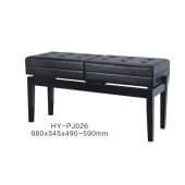 HY-PJ026 Банкетка двойная, черная, искусственная кожа, Rin