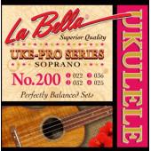 200 Uke-Pro Комплект струн для укулеле сопрано, La Bella
