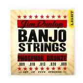 DJP0920 Комплект струн для 5-струнного банджо, фосфорная бронза, 9-20, Dunlop