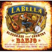 730M-LE Комплект струн для 5-струнного банджо, петли, La Bella
