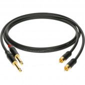 AL-RP0030 Кабель акустический RCA-Jack, 30см, 2шт, Klotz