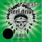 BSD-ML Steel Drive Комплект струн для бас-гитары, сталь, 45-100, Мозеръ