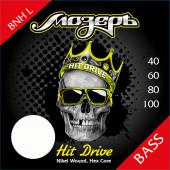 BNH-L Hit Drive Комплект струн для бас-гитары, никелевый сплав, 40-100, Мозеръ