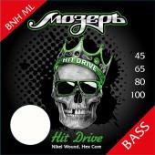 BNH-ML Hit Drive Комплект струн для бас-гитары, никелевый сплав, 45-100, Мозеръ